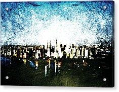 Future Skyline Acrylic Print by Andrea Barbieri
