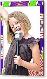 Future Star Sing It Girl Acrylic Print by Susan Leggett