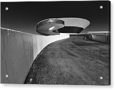 Futuristic Shapes Acrylic Print by George Oze