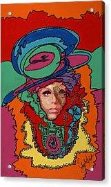 Gaga To The Max Acrylic Print by Stapler-Kozek