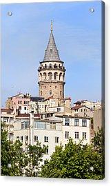 Galata Tower In Istanbul Acrylic Print by Artur Bogacki