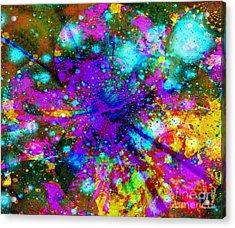 Galaxie Des Sages - Galaxy Of The Wise Acrylic Print by Fania Simon