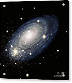 Galaxy Acrylic Print by Atlas Photo Bank and Photo Researchers