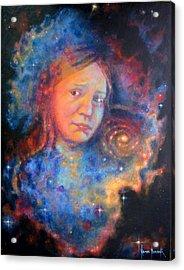 Galaxy Girl Acrylic Print by Karen Roncari