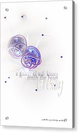 Galaxy Of Love Acrylic Print by Vicki Ferrari Photography