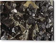 Galenite And Fluorite Minerals Acrylic Print by Dirk Wiersma
