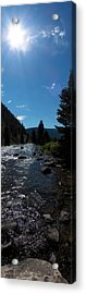 Gallatin River Acrylic Print by Ken Peterson