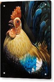 Gallic Rooster Acrylic Print by Valia Bradshaw