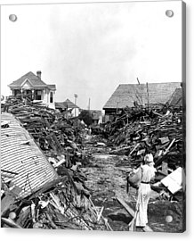 Galveston Flood Debris - September - 1900 Acrylic Print by International  Images