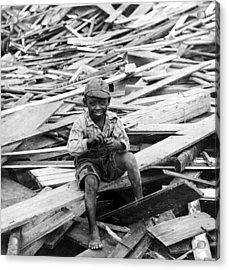 Galveston Flood Survivor - September - 1900 Acrylic Print by International  Images