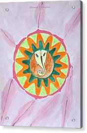 Ganesh Mandala Acrylic Print by Sonali Gangane