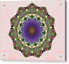 Garden Mandala... Acrylic Print by Rene Crystal