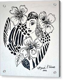 Garden Of Eve Acrylic Print by Maria Urso