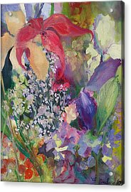 Garden Party Acrylic Print by Claudia Smaletz