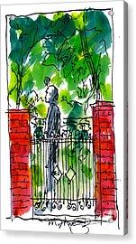 Garden Philadelphia Acrylic Print by Marilyn MacGregor