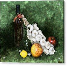 Garlic And The Apples Acrylic Print by Kelly Rader