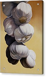 Garlic Still Life Acrylic Print by Matthew Bates