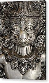 Garuda Silver Acrylic Print by Panupong Roopyai