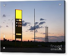 Gas Station Sign Acrylic Print by Jaak Nilson