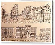 Gastown Vancouver Canada Prints Acrylic Print by Kim Hunter