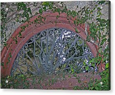 Gate To The Courtyard Acrylic Print by Patricia Taylor