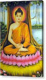 Gautama Buddha Acrylic Print by Created by handicap artists