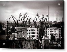 Gdansk Shipyard Acrylic Print by Olivier Le Queinec