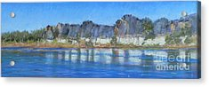 Geikie Gorge Acrylic Print by Nadine Kelly