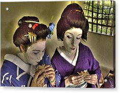 Geisha Lunch Acrylic Print by William Fields