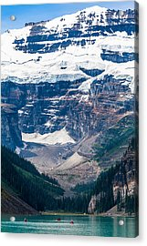 Gem Of The Canadian Rockies Lake Louise Acrylic Print by Tommy Farnsworth