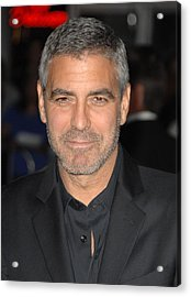 George Clooney At Arrivals For Up In Acrylic Print by Everett