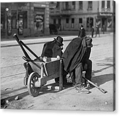 German Street Sweepers Taking Lunchtime Acrylic Print by Everett