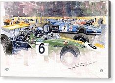Germany Gp Nurburgring 1969 Acrylic Print by Yuriy  Shevchuk