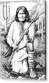 Geronimo Acrylic Print by Gordon Punt