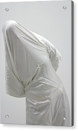Ghost - Person Covered With White Cloth Acrylic Print by Matthias Hauser