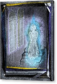 Ghost Stories Haunted Stairs Acrylic Print by First Star Art