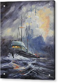 Ghosts Of The Seas Acrylic Print by Kurt Jacobson