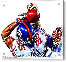 Giants David Tyree Acrylic Print by Jack K
