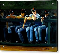 Giants Dugout Acrylic Print by Char Wood