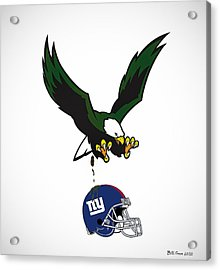 Giants Suck Acrylic Print by Bill Cannon