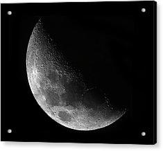 Gibbeous Moon Acrylic Print by Charles Warren