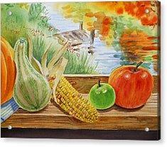 Gifts From Fall Acrylic Print by Irina Sztukowski