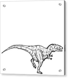 Gimpusaurus - Dinosaur Acrylic Print by Karl Addison