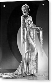 Ginger Rogers, Ca. 1930s Acrylic Print by Everett