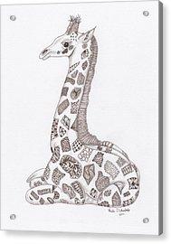 Giraffe Acrylic Print by Paula Dickerhoff