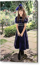 Girl At The Huntington Acrylic Print by David Lloyd Glover