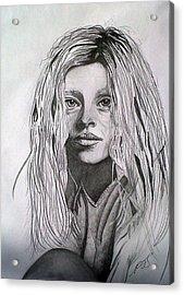 Girl I Acrylic Print by Paula Steffensen