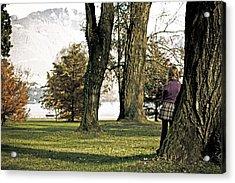 Girl In Autumn Acrylic Print by Joana Kruse
