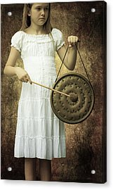 Girl With Gong Acrylic Print by Joana Kruse