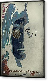 Give Peace A Chance... Acrylic Print by Marie  Gale
